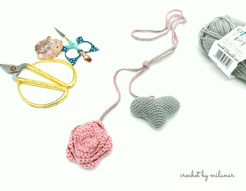 "Collar ""corazón milunar"" – crochet by milunar"